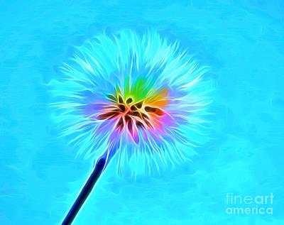 Abstract Flower Garden Digital Art - Wish From The Soul by Krissy Katsimbras