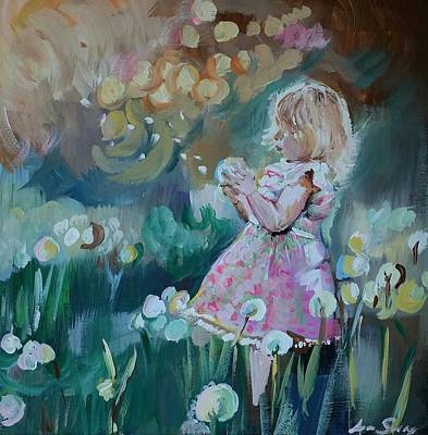 Abstract Realism Painting - Wish I May by Anne Seay