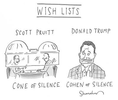 Drawing - Wish Lists by Danny Shanahan