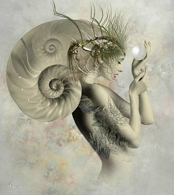 Wish On A Pearl Art Print by Ali Oppy
