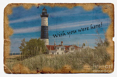 Digital Art - Wish You Were Here 2015 by Kathryn Strick