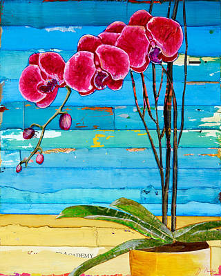Orchid Mixed Media - Wish You Were Here by Danny Phillips