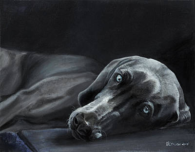 Dog Painting - Wish You Were Here by Kate Cowan