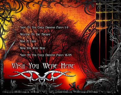Digital Art - Wish You Were Here by Michael Damiani