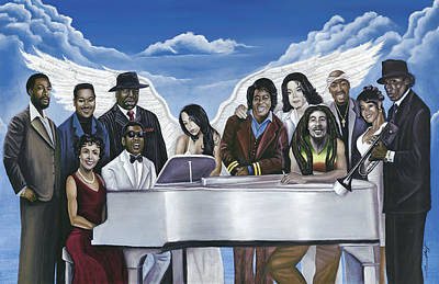 Michael Jackson Painting - Wish You Were Here by Stacy V McClain
