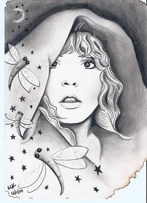 Stevie Nicks Drawing - Wishes That Would Burn by Michelle Kinzler