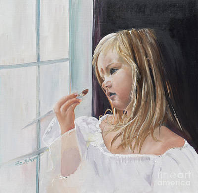 Painting - Wishful Thinking - Megan - Signed by Jan Dappen