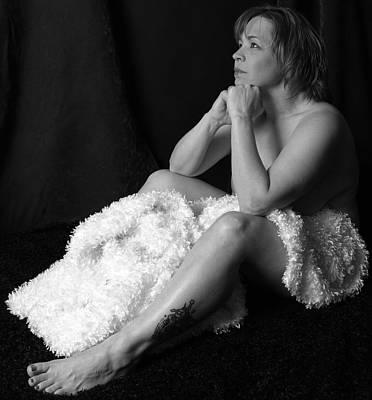 Middle Aged Female Nude Photograph - Wishing Bnw by Robert Gebbie