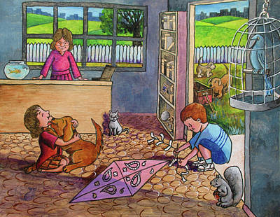 Painting - Wishing For A Dog by Larry Whitler