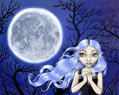 Wishing On The Moon Art Print by Lindsey Cormier