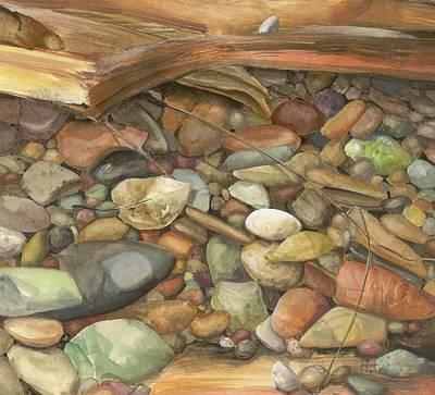 Hranilovich Painting - Wishing Pebble by Barbara Hranilovich