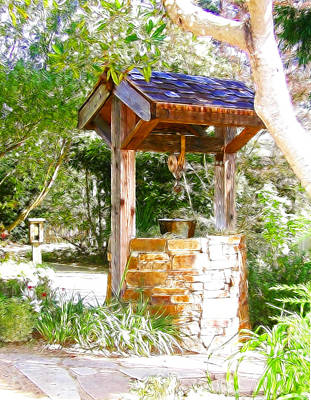 Cambria Photograph - Wishing Well Cambria Pines Lodge by Arline Wagner