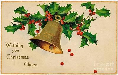 Drawing - Wishing You Christmas Cheer Vintage Greetings Card by R Muirhead Art