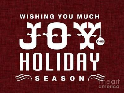 Digital Art - Wishing You Much Joy This Holiday Season 1 by Erika H