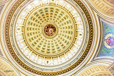 Photograph - Wisconsin Capitol Dome Interior View by Pamela Williams
