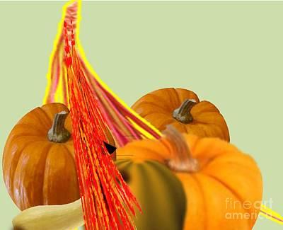 Painting - Wisp Of Pumpkins by Belinda Threeths