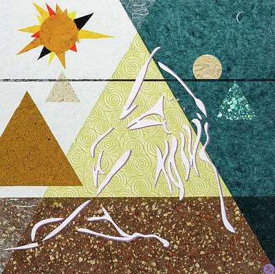 Mixed Media - Wisp Of The Triangles by CJ Peltz
