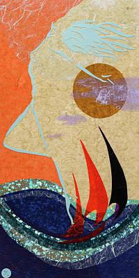 Wall Art - Mixed Media - Wisp Of The Wind by CJ Peltz