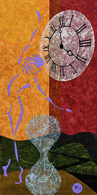 Mixed Media - Wisp Of Time by CJ Peltz