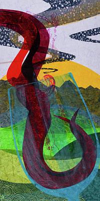 Wall Art - Mixed Media - Wisps In The Wine by CJ Peltz