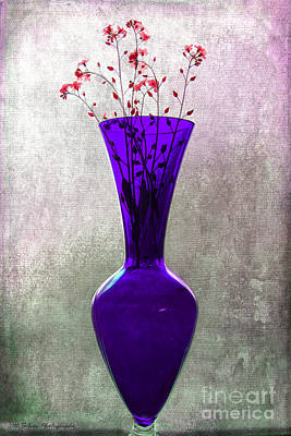 Photograph - Wisps Of Spring In A Purple Glass Vase by Nina Silver