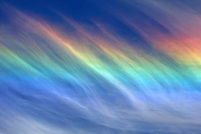 Photograph - Wispy Cloud Rainbow by Debbie Oppermann