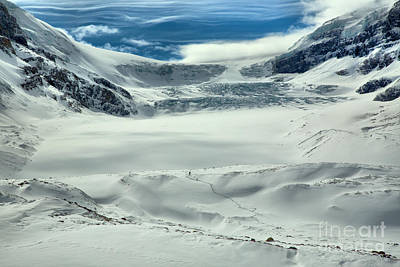 Photograph - Wispy Clouds Over The Athabasca Glacier by Adam Jewell