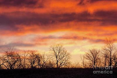 Photograph - Wispy Sunrise Sky by Cheryl Baxter