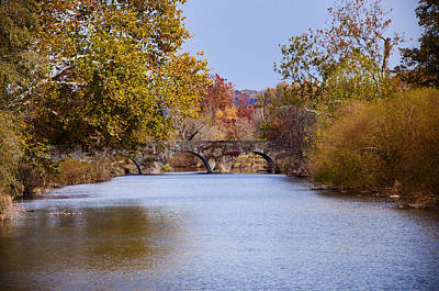 Wissahickon Autumn Art Print by Bill Cannon