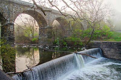 Photograph - Wissahickon Creek Dam At Ridge Avenue by Bill Cannon