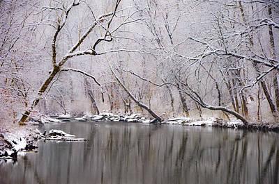Wissahickon Creek In A Winter Wonderland Print by Bill Cannon