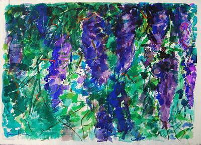 Painting - Wistaria by Zolita Sverdlove