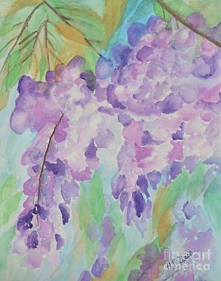 Watercolor Wisteria Painting - Wisteria Abstract by Maria Urso
