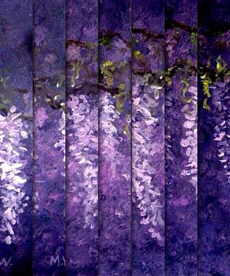 Digital Art - Wisteria Blinds by Megan Walsh