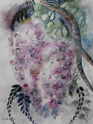 Painting - Wisteria by Carol Crisafi