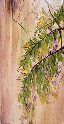 Painting - Wisteria  by Carrie Jackson