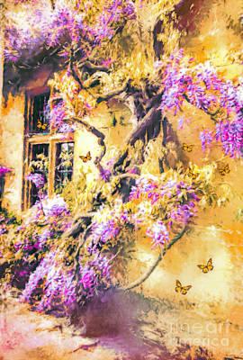 Digital Art - Wisteria Dream by Tina LeCour