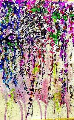 Painting - Wisteria by Esther Woods