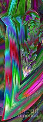 Digital Art - Wisteria Fractal Flower Spray Abstract by Renee Trenholm