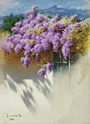 Wisteria In Bloom Art Print by Iosif Evstafevich Krachkovsky