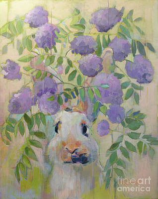 Peach Blossom Painting - Wisteria by Kimberly Santini