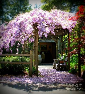 Print featuring the photograph Wisteria by Leslie Hunziker