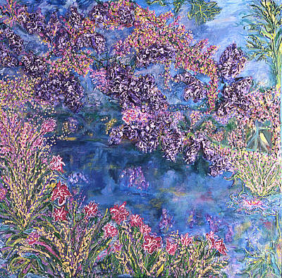 Lilly Pond Painting - Wisteria by Lorin Zerah