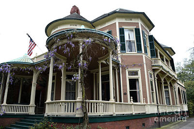 Photograph - Wisteria On The Victorian by Gary Smith
