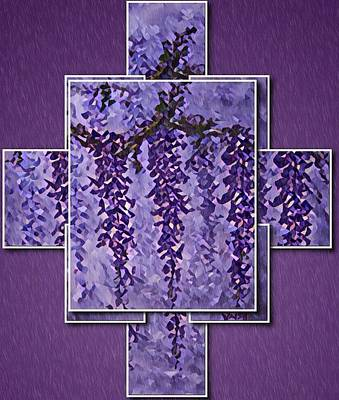 Digital Art - Wisteria Panels 2 by Megan Walsh