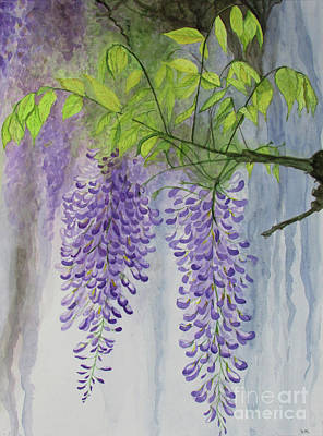 Drippy Painting - Wisteria by Sandra McClelland