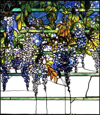 Hemingway House Wall Art - Glass Art - Wisteria Stained Glass Window, Louis Comfort Tiffany by Thomas Pollart