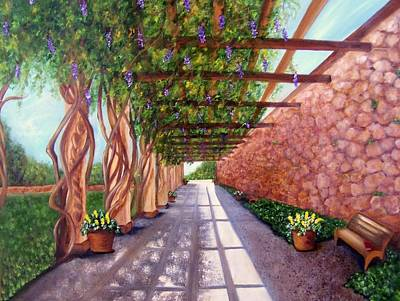 Painting - Wisteria Walk At The Biltmore by Susan Dehlinger