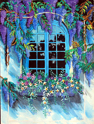 Painting - Wisteria Window by Sarah Hornsby
