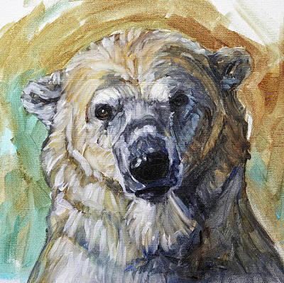 Painting - Wistful Polar Bear by Christine Montague